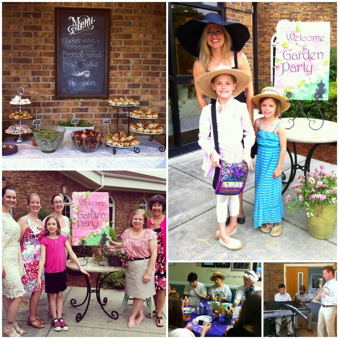 2014 garden party collage